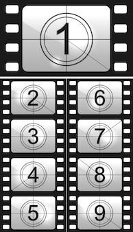 Conjunto de número de película