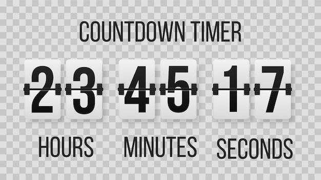 Conjunto de números en un marcador mecánico. ilustración creativa del temporizador de cuenta regresiva con diferentes números. diseño de arte de contador de reloj. contador de horas del temporizador de cuenta regresiva.