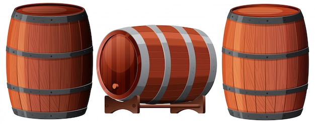 Un conjunto de oak barrel