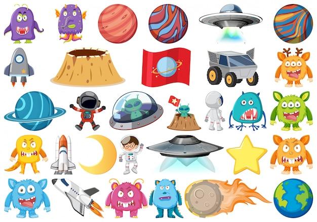 Conjunto de objetos astronómicos aislados