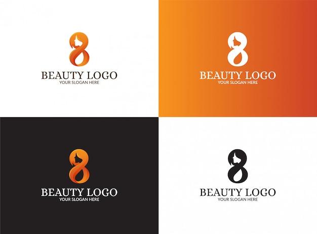 Conjunto de ocho logotipos