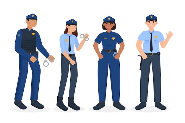 Conjunto de oficiales de policía