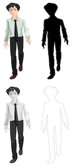 Conjunto de oficinista masculino