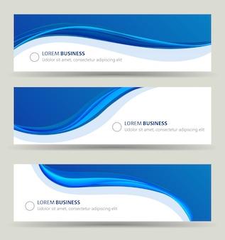 Conjunto de onda de banner de negocios