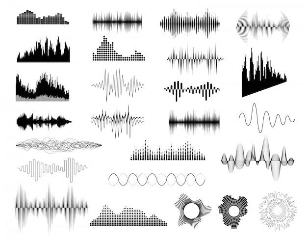 Conjunto de ondas de sonido
