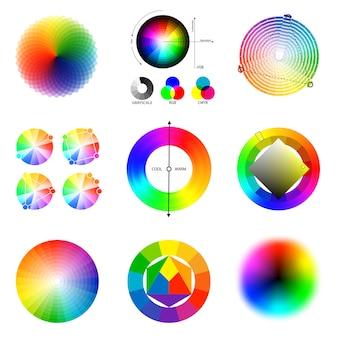 Conjunto de paleta de colores