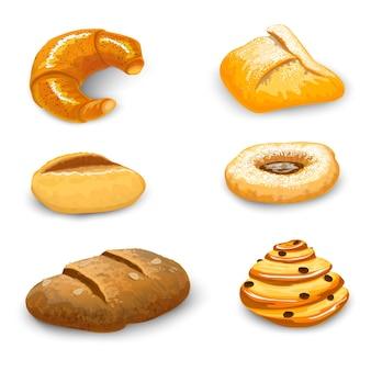 Conjunto de panadería aislado
