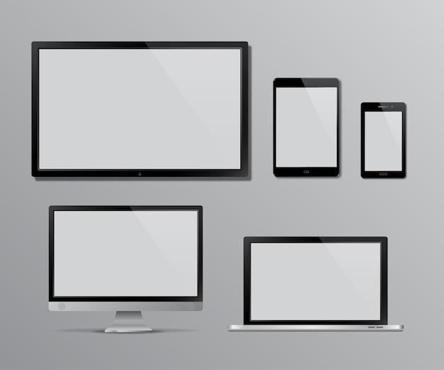 Conjunto de pantalla de tv y monitor de computadora