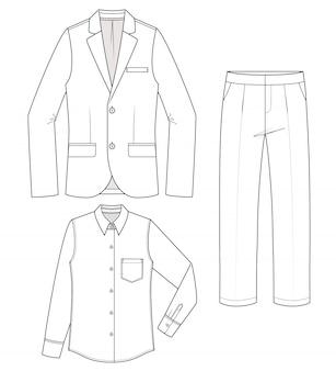 Conjunto de pantalones de camisa jaket