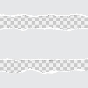 Conjunto de papel rasgado blanco