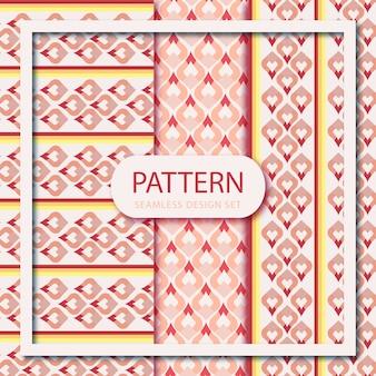 Conjunto de papel tapiz de patrones sin fisuras sari