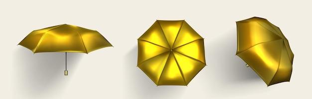 Conjunto de paraguas dorado