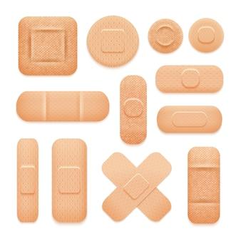 Conjunto de parches adhesivos de primeros auxilios