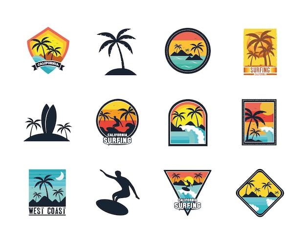 Conjunto de parches de surf