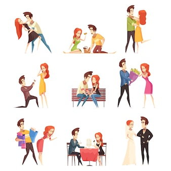 Conjunto de pareja de enamorados
