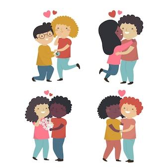 Conjunto de pareja de san valentín