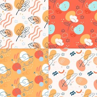 Conjunto de patrón abstracto dibujado a mano