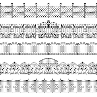 Conjunto de patrón de borde de vallas