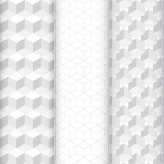 Conjunto de patrón de cubo abstracto.