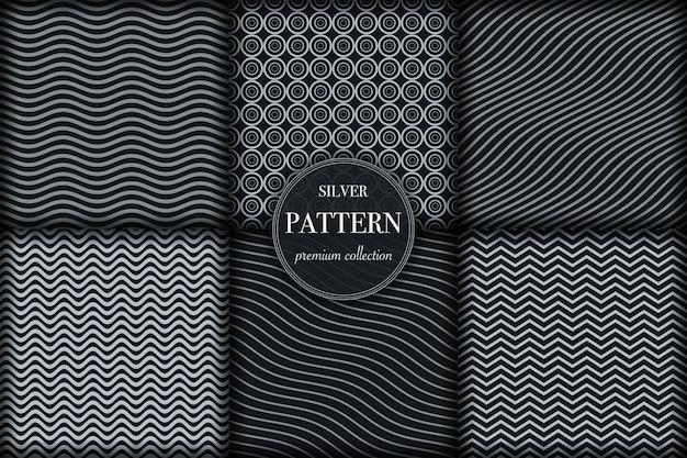 Conjunto de patrón de línea geométrica