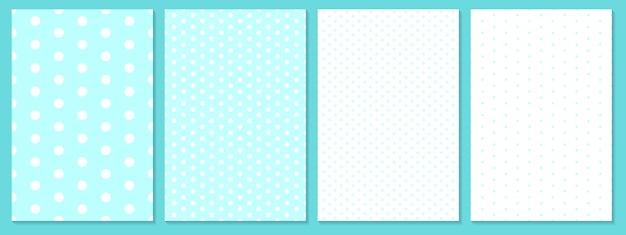Conjunto de patrón de puntos. fondo de bebé. color azul. patrón de lunares.