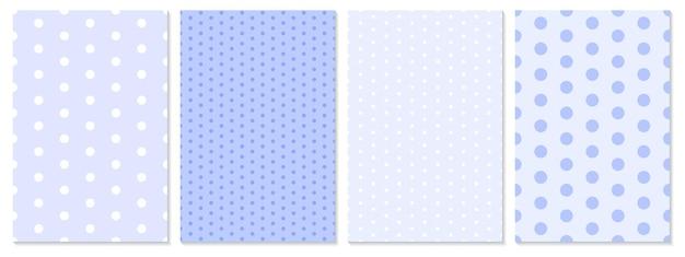 Conjunto de patrón de puntos. fondo de bebé. color violeta. patrón de lunares.