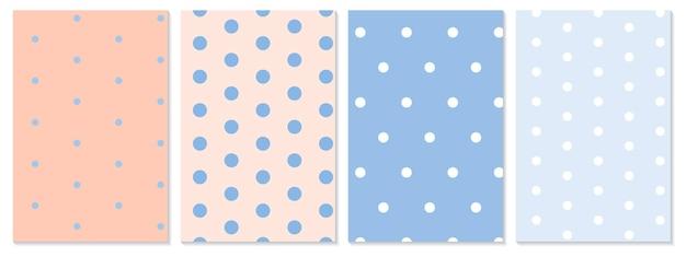 Conjunto de patrón de puntos. fondo de bebé. ilustración vectorial. patrón de lunares.