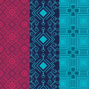Conjunto de patrón de songket transparente