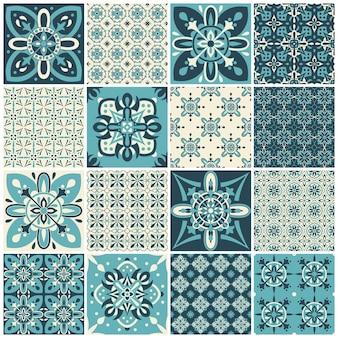 Conjunto de patrón vintage para diseño textil
