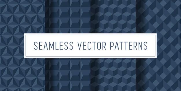Conjunto de patrones 3d sin costuras