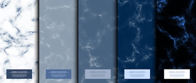 Conjunto de patrones abstractos de colección de mármol