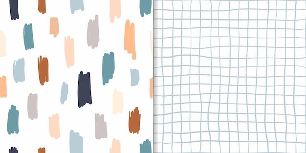 Conjunto de patrones abstractos sin costura