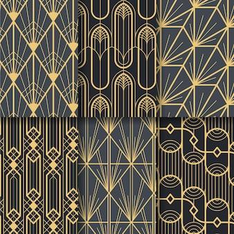 Conjunto de patrones art deco