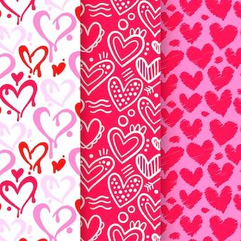 Conjunto de patrones de corazón