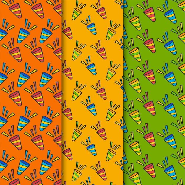Conjunto de patrones de cuerno de fiesta
