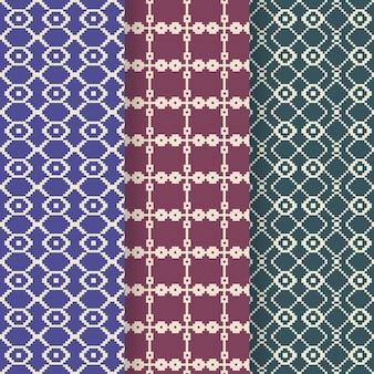 Conjunto de patrones decorativos songket