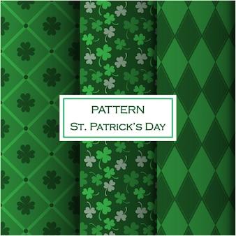 Conjunto de patrones del día de san patricio