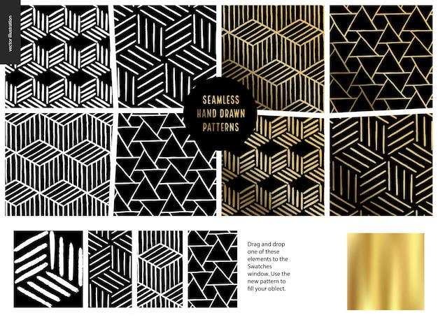 Conjunto de patrones dibujados a mano