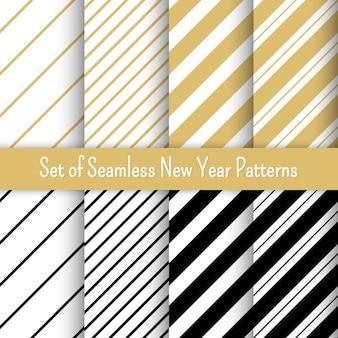 Conjunto de patrones de fiesta de año nuevo. para pancartas e invitaciones.