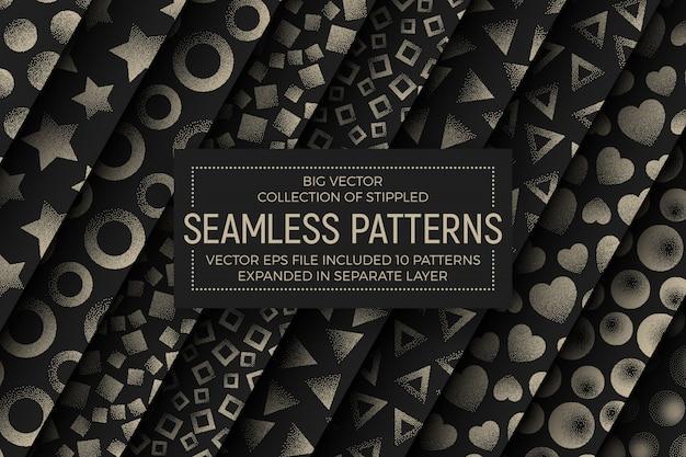 Conjunto de patrones sin fisuras abstractas punteadas diferentes