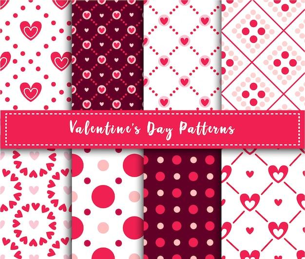 Conjunto de patrones sin fisuras abstractas de san valentín
