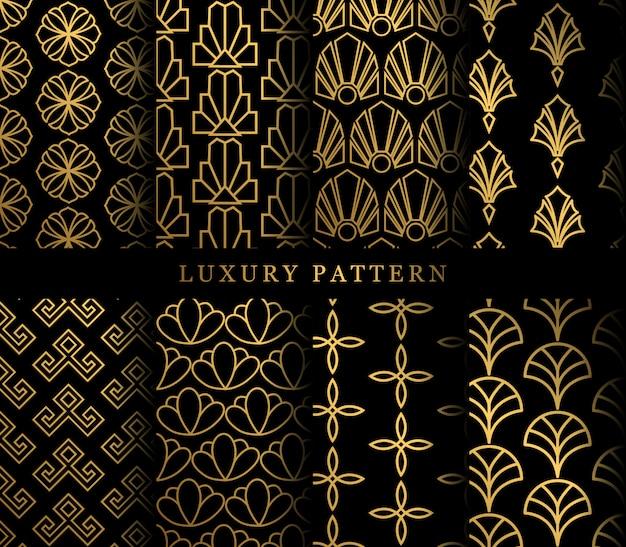 Conjunto de patrones sin fisuras de adorno