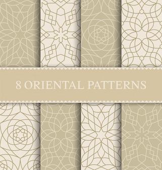 Conjunto de patrones sin fisuras árabe tradicional