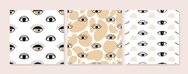 Conjunto de patrones sin fisuras collage contemporáneo.