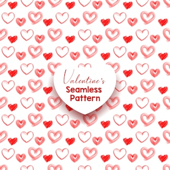 Conjunto de patrones sin fisuras del corazón. adorno decorativo abstracto y elegante del día de san valentín. ilustración vectorial