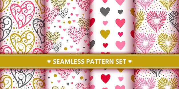 Conjunto de patrones sin fisuras de corazones
