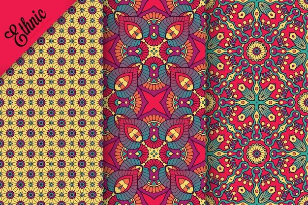 Conjunto de patrones sin fisuras con elementos geométricos