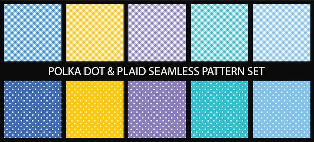 Conjunto de patrones sin fisuras de lunares