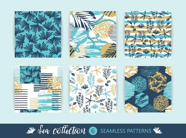 Conjunto de patrones sin fisuras de mar.