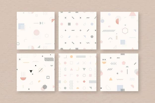 Conjunto de patrones sin fisuras de memphis beige